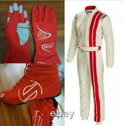 SparcoGo Kart Racing Suits + Shoes + Free GlovesCIK/FIA Level 2 Approved