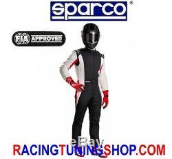 TUTA AUTO COMPETITION + SPARCO OMOLOGATA FIA RACING SUIT fia 8856-2000 tg 54n