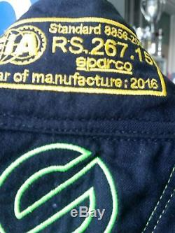 TUTA AUTO SPARCO VICTORY HOCOTEX FIA RACING RALLY SUIT 54 race suit green black