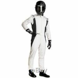 Tuta Auto Competition Sparco Omologata Fia Racing Suit Size 54 Bianco/nero