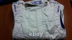 Tuta Auto Sparco M-5 Omologata Fia Bianco Racing Suit Overall Fia 0011261bi