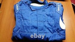 Tuta Auto Sparco M-5 Omologata Fia Blu Racing Suit Overall Fia 0011261az