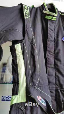 Tuta Auto Sparco Victory Verde Fluo Taglia 62 (xl) Omologata Fia Racing Suit