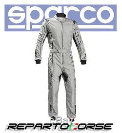 Tuta Kart Sparco Groove Ks-3 Silver Nero Cik- Fia N2013.1 002334