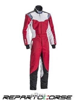 Tuta Kart Sparco Ks-5 Rosso Bianco Nero Xs S M L XL XXL Cik-fia N 2013-1