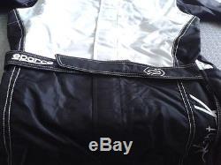 Tuta Kart Sparco X-light Taglia 48 Karting Suit Race Size 48 Black Grey