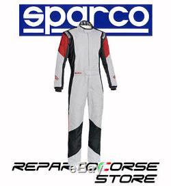 Tuta Racing Sparco New Grip Rs-4 Bianco-nero-rosso Fia 8856-2000 0011275