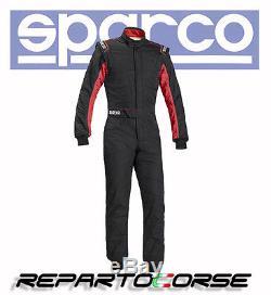 Tuta Racing Sparco Sprint Rs-2.1 Bicolore Nero-rosso Fia 8856-2000 001091