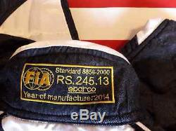 Tuta Rally Racing Sparco Rs 5 Bianco / Blu / Jeans Tg. 48 Fia 8856 2000
