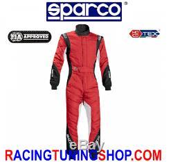 Tuta Sparco Eagle Rs8.1 Tg 50 Hocotex Racing Suit Fia 8856-2000 Black Red