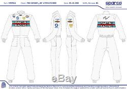 Tuta Suit Overall Sparco Martini Racing Miki Biasion 30° Anniversario Tg-size 54