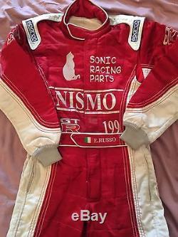 Tuta Suit Sparco Profi Racing Ignifuga Taglia Tg 52 Personalizzata