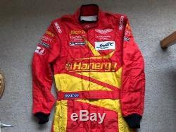 USED 2015 Sparco Race Suit ASTON MARTIN RACING HAN Size 54 FIA 8856 2000 Le Mans