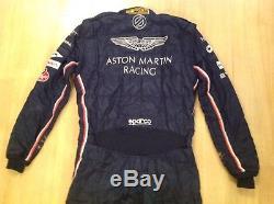 USED ASTON MARTIN RACING IMSA TEAM 2016 Sparco RACE SUIT Size 58 FIA 8856-2000