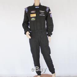 Used Aston Martin Racing Sparco IMSA Black Race Suit Size 60 2015