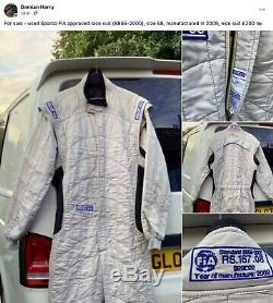 Used Sparco FIA approved race suit 58
