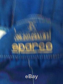Vintage 1986 Pale Blue SPARCO Race Suit Size 58 NOMEX FIA 06.201. CSAI. 87