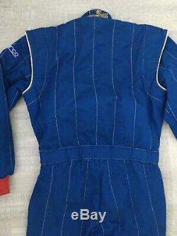 Vintage SPARCO Blue Race Suit Size 58 New Condition NOMEX 1986 FIA06.201. CSAI. 87