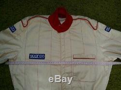 Vintage Sparco 80's Racing Suit Pinstripe Beige/Gold IEV