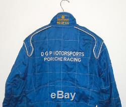 Vtg 1986 PORSCHE Team Racing Race Suit SPARCO FIA NOMEX DGP David Hobbs ITALY 58